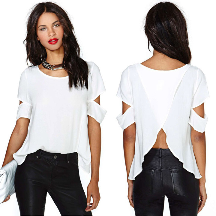 Wrap Blouse White Promotion-Shop for Promotional Wrap Blouse White ...