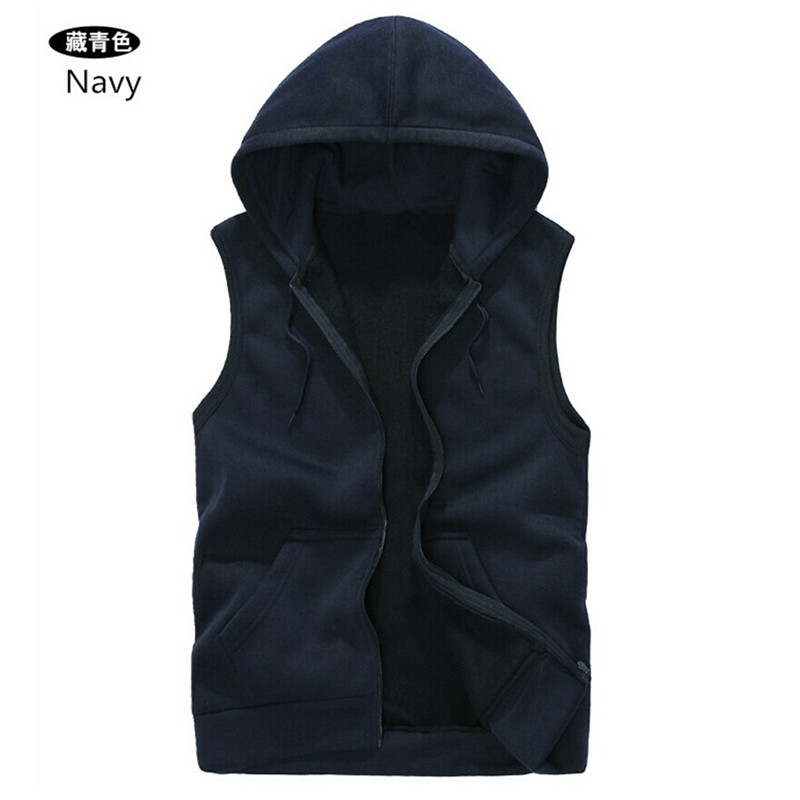 Mens Sleeveless Hoodies Fashion Casual Hooded Sweatshirt Men Hip Hop Hoodie Men's Sportswear High Quality 5 Color Size M-XXL A36