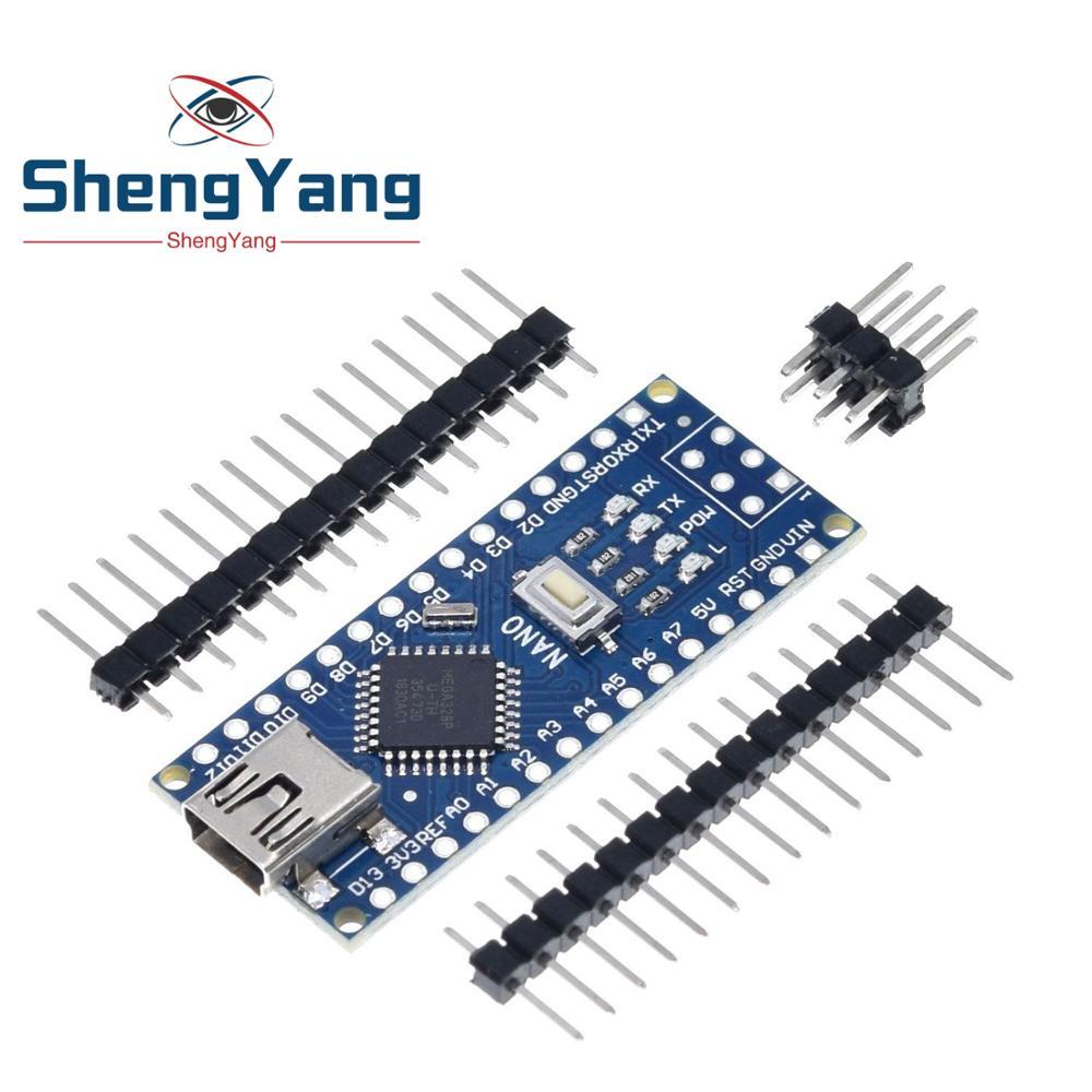 Плата контроллера ShengYang Mini USB CH340 Nano 3,0 ATmega328P, совместимый с Arduino Nano CH340, драйвер USB Nano V3.0, ATmega328