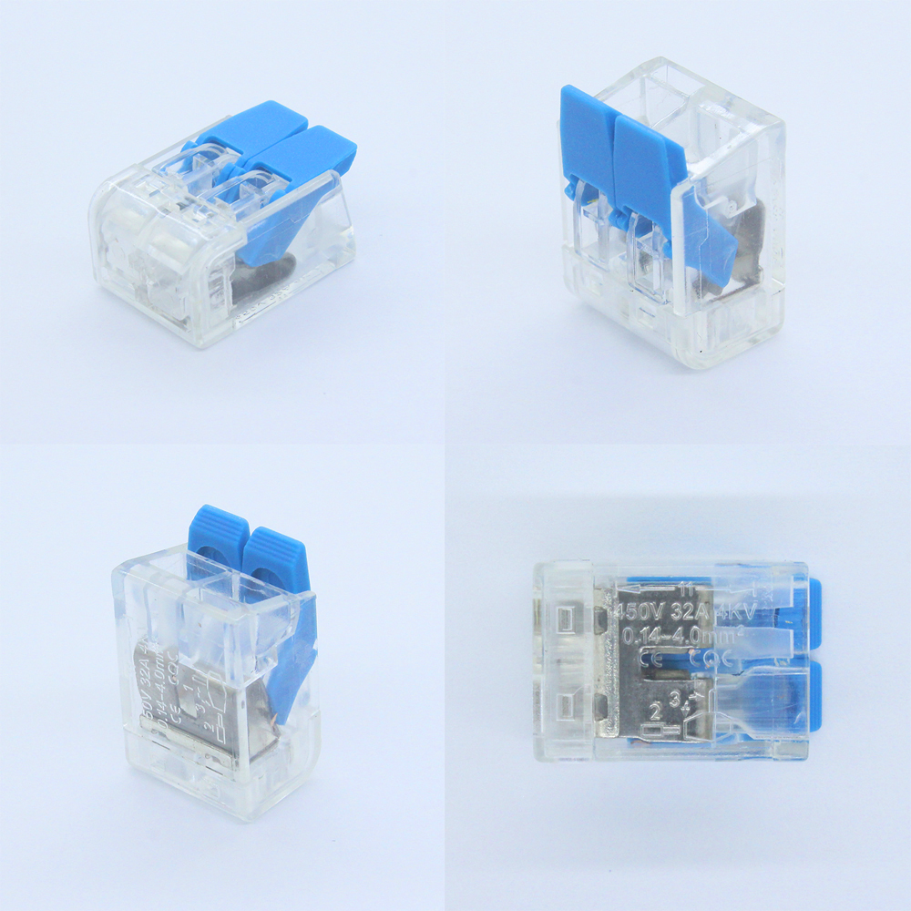 Wire Connector Set Box Universal Compact Terminal Block Lighting Wire Connector For 4 Room Hybrid Quick Connector