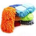 Luvas de Limpeza da Lavagem de carro Esponja de Limpeza de Janela Do Carro de Fibra Ultrafina Chenille Anthozoan Esponja Escova de Lavar Suprimentos AJ