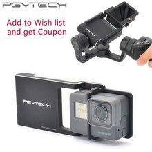 PGYTECH Adapter do osmo działania komórkowego zhiyun Gopro Hero 7 6 5 4 3 + xiaoyi 4 K gładki Q akcesoria przełącznik zamontować kamera na tablicę rejestracyjną