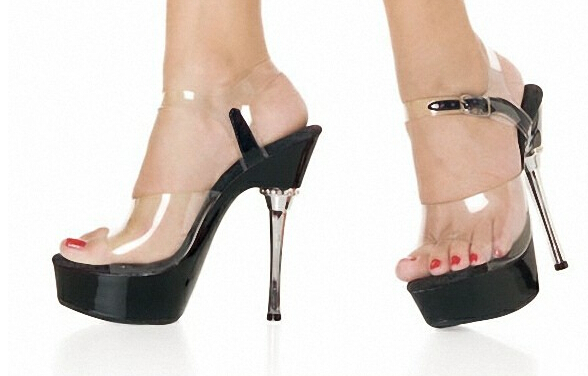 5 Inch Black Crystal Sandals Fashion 14cm High-Heeled Shoes Princess Plus Size Sexy Shoes Club Heels For Women free shipping 7cm sandals big size sexy high heeled sandals high heeled shoes model shoes 5 14 5