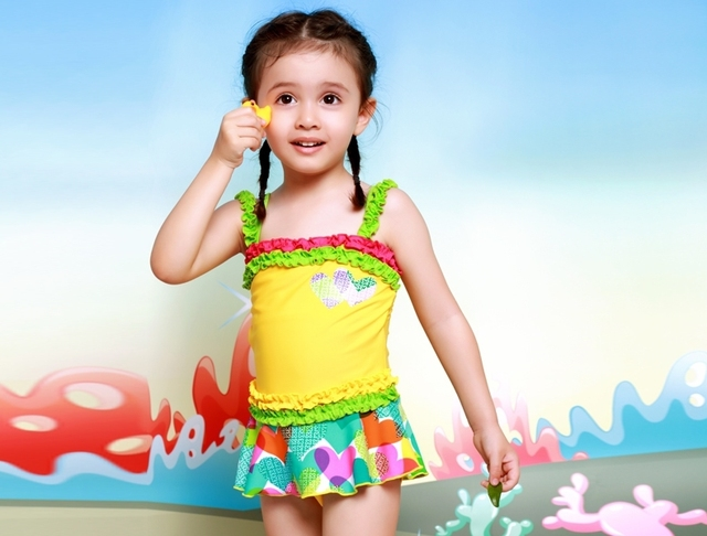 71d72788c56aa 2015 rainbow princess cute toddler one piece frozen swimsuit for girls  swimwear child swimming costume bathing suits to kid baby