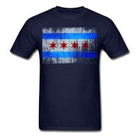 2017 New Fashion Chicago Flag Men S T Shirt 100 Cotton O Neck T Shirt Male