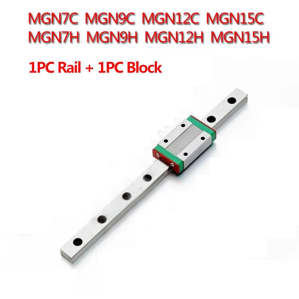 1 stück MGN7C MGN7H MGN9C MGN9H MGN12C MGN12H MGN15C MGN15H Linear Schiene Führen 150mm 400mm mit 1 stück MGN Slider