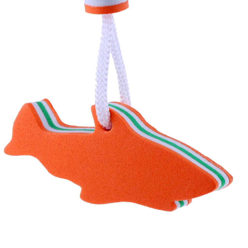 Eva Dolphin Berbentuk Mengambang Gantungan Kunci Air Apung Gantungan Kunci untuk Perahu Yacht Berlayar Olahraga Air Biru/ orange