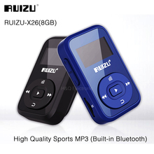 Mini Original RUIZU X26 Clip Bluetooth reproductor de MP3 8 GB Deporte Bluetooth Reproductor de Música Mp3 Radio FM Grabador de 1.1 pulgadas Soporte SD tarjeta