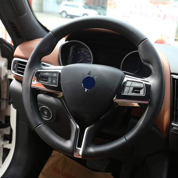 For Maserati Levante Ghibli Quattroporte 2016 Styling ABS Car Steering Wheel Button Frame Cover Trim Sticker Accessories