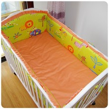 Promotion 6PCS Cheap Price Baby Crib Bedding Baby Crib Accessories bumpers sheet pillow cover