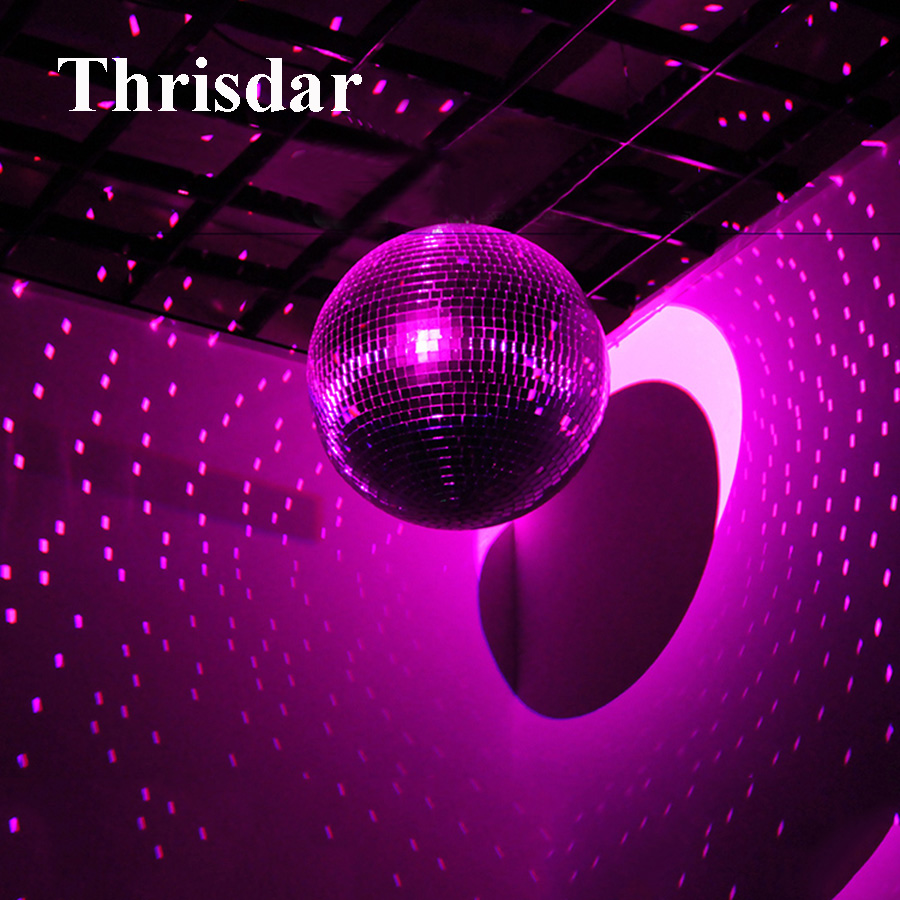 D20cm 25CM 30CM Reflective Glass Rotating Mirror Ball Disco DJ Party Stage Effect light reflection motor balls 220V colorfull light mirror reflection glass ball stage festival hanging ball motor 10inch 19cm