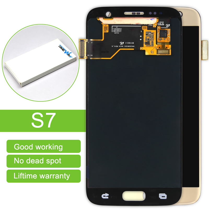 Hot sale 5pcs For Samsung Galaxy S7 New Mobile Phone Lcd Display With Touch Screen Digitizer Assembly Replacement Free Shipping 2016 sale 5pcs for samsung galaxy j2 lcd display with touch screen digitizer assembly replacement j200 j200f free dhl shipping