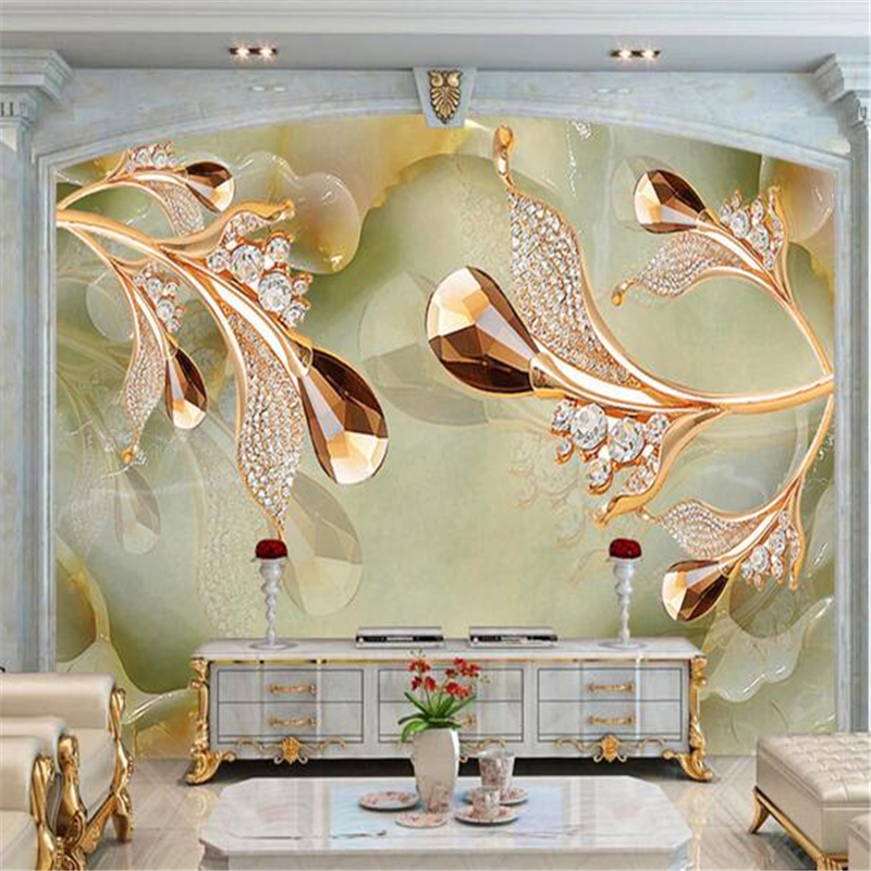Beibehang  Custom Wallpaper Wall Stickers Large Wall Paintings 3D Calla Jewelry Jewelry TV Backdrop Papel De Parede Wallpaper