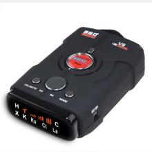 Антирадарный детектор V8 автомобильный радар-детектор 16 Full band X K NK Ku Ka лазерный VG-2 светодиодный дисплей Русский/Английский
