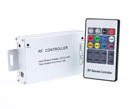 50 pcs RF Senza Fili 20 tasti 14 modi LED Regolatore A Distanza di RGB DC12 24V 12A Per LED 3528 5050 Luce di Striscia