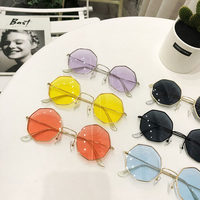Eight side shape sunglasses women 2019 brand designer blue green orange pink festival sun glasses oculos de sol feminino