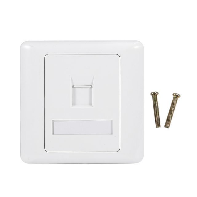 New 86 Type Single Port Socket RJ45 Wall mountable Flat Face Plate ...