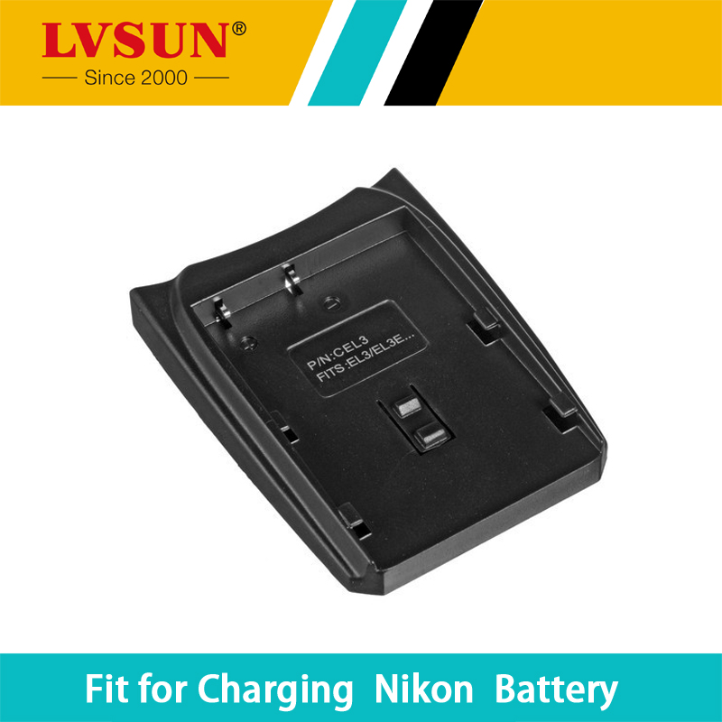 LVSUN ENEL3 EN-EL3 EN EL3 Rechargeable Battery Adapter Case Plate for Nikon D30 D50 D70 D90 D70S Batteries Charger LS-Cel3