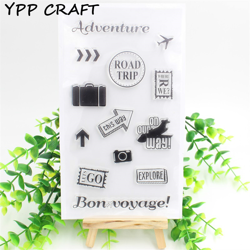 YPP CRAFT Adventure Transparent Clear Silicone Stamps for DIY Scrapbooking/Card Making/Kids Christmas Fun Decoration Supplies