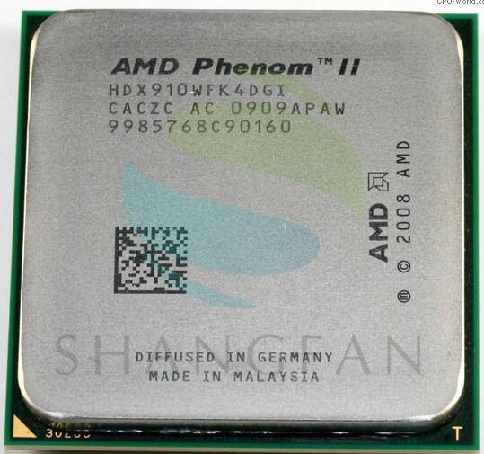 AMD Phenom II X4 910 CPU Processor Quad-CORE 2.6G HDX910WFK4DGI Socket AM3