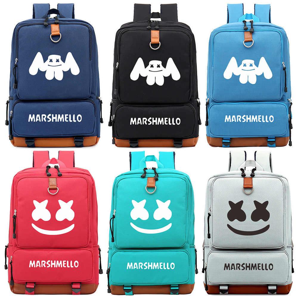 ac5e8bf74a66 Диджеев Marshmello монста х принтами для мальчиков и девочек школьная сумка  Для женщин Bagpack подростков ранцы