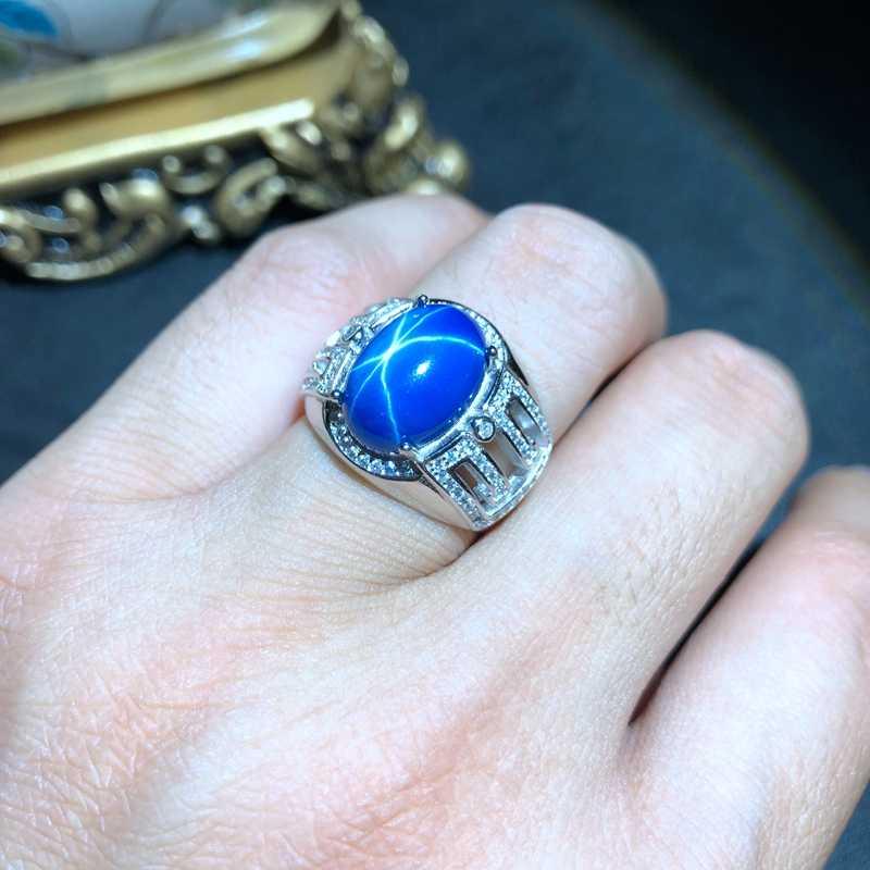 Sterling Silver Mens Ring,Sapphire Men Ring,Men Sapphire Ring,Sapphire Gemstone Men Ring,Sapphire Stone Ring,Silver Men Ring,Ring For Men