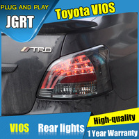 2PCS Car Styling For Toyota Vios Taillights 08 12 For Vios LED Tail Lamp Turn Signal