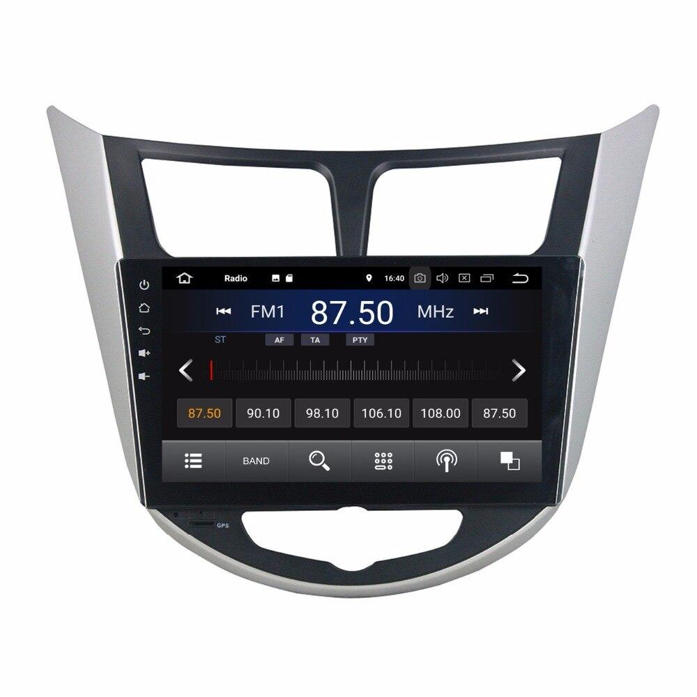 Android 8.1 di Gps Radio Multimediale Unità di Testa per Hyundai Verna Solaris Accent 2011 2012 Con 2 gb di RAM BT USB WIFI Specchio-link