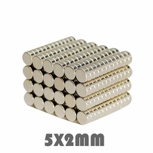 50/100/200pcs 5x2mm Powerful Super Strong Permanent Neodymium Magnet 5 x 2 mm N35 Small Round Rare Earth Neo Neodymium Magnet 100 50 20 super block hole magnet 100 x 50 20 mm powerful craft neodymium rare earth permanent strong n35 n35