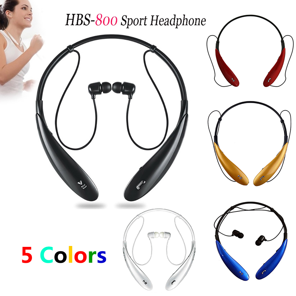 Wireless Bluetooth Headphones Stereo Headsets Sports Earphones With Microphone HBS-800 Handfree for Smartphone iPhone Samsung