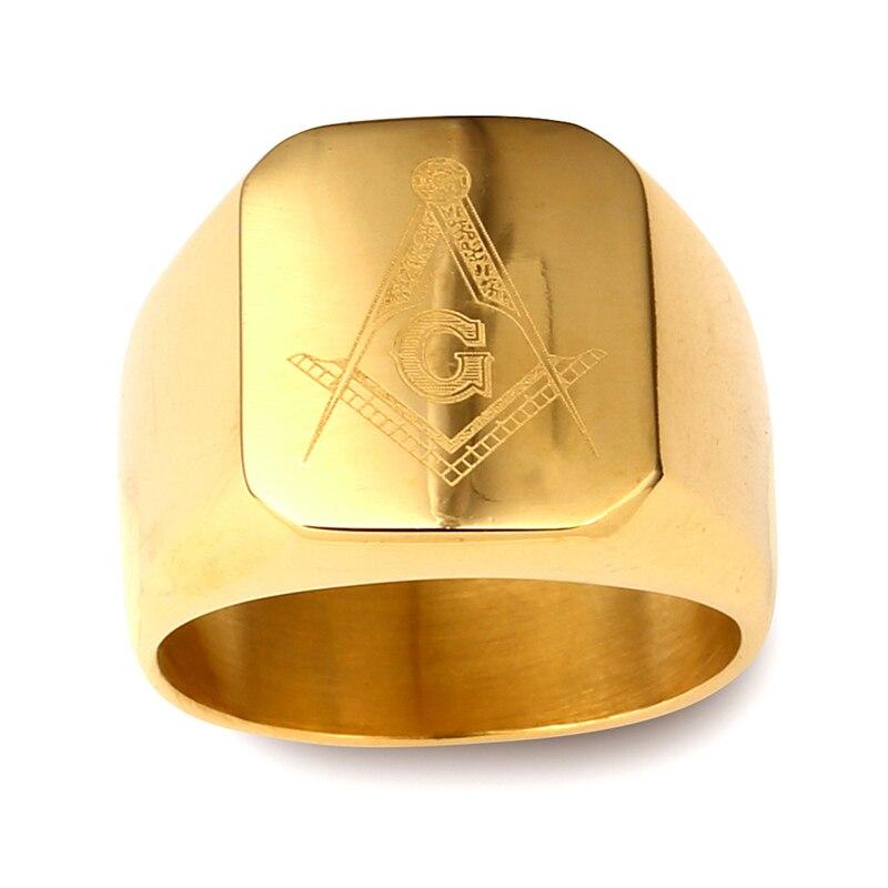 NYUK New Arrival Men Ring Gold Hip Hop Cool Ring Men Golden Rings ...