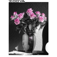 ZOOYA DIY Diamond Embroidery Needlework Full Drill Diamond Painting Beautiful Vase In The Corner Mosaic Pattern
