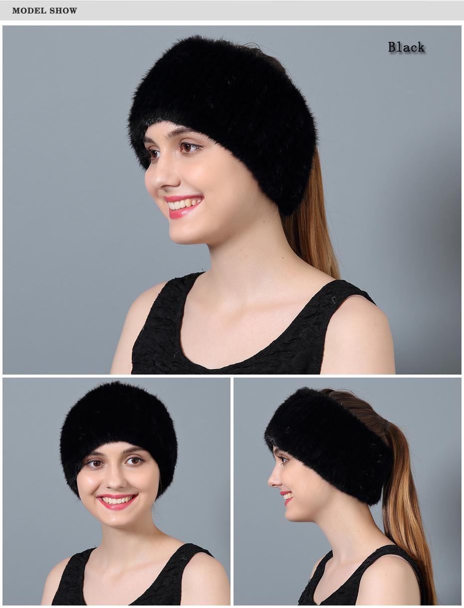 States United ใช้หมวกผ้าพันคอผ้าพันคอขนสัตว์ฤดูหนาวหญิงของแท้หมวกขนสัตว์ ล้างคลังสินค้า 4