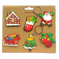 Cartoon Fridge Magnets 6PCS LOT NOEL Christmas Gifts Home Decorations PVC Soft Rubber Crafts Customized
