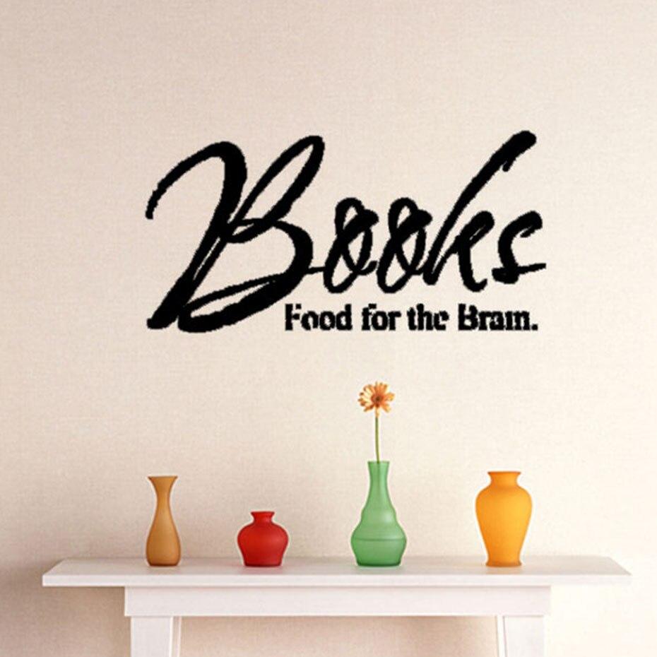 ᗚDctop Libros alimento para el cerebro plane etiqueta de la pared ...