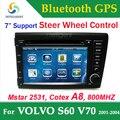 Para volvo s60 v70 2 din gps dvd del coche con gps radio de coche Estéreo Del Coche DVD Bluetooth RDS TV USB SD receptor de control de dirección de la rueda Del Coche