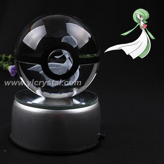 New Style Gardevior Pokemon Ball With Engraving Crystal Ball For Gift With Gift Box