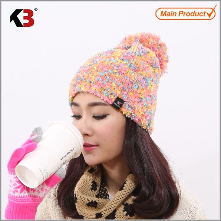 Double Sided Cuffed Ball Top Winter Knit Hat Established Ball Top Winter Knit Hat (5)
