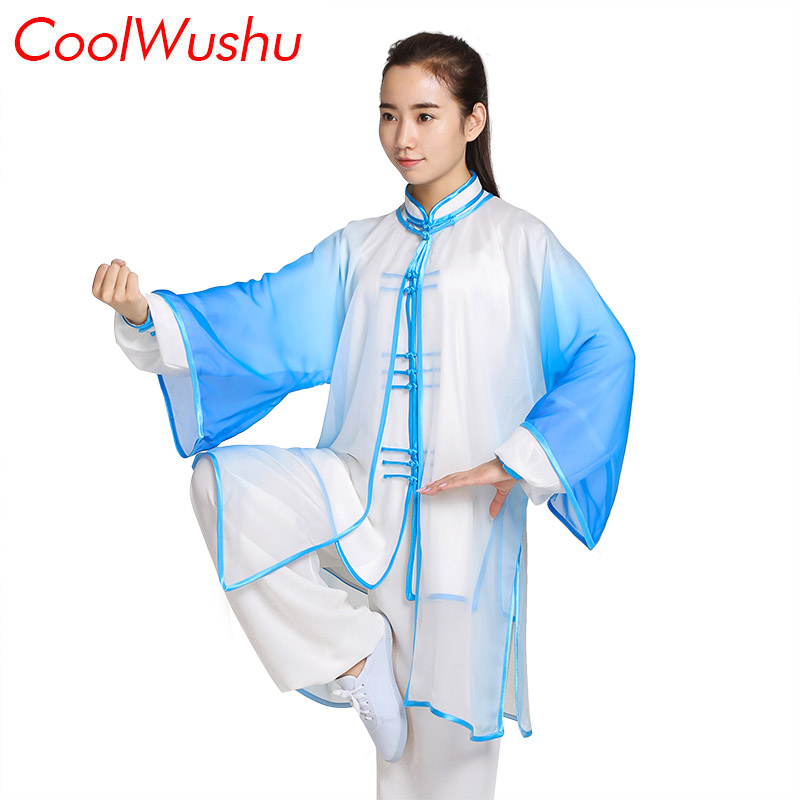 Tai Chi Clothing Kung Fu Clothes Spring And Autumn Uniform Male And Women 3-piece Suit