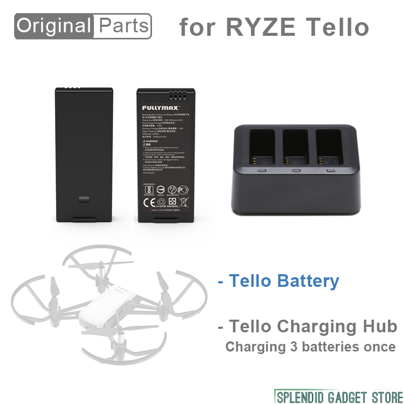 2pcs Original Flight Battery for RYZE Tello Easy to mount Drone Accessories in stock 2pcs set dji original tello flight battery drone batteries high quality cells