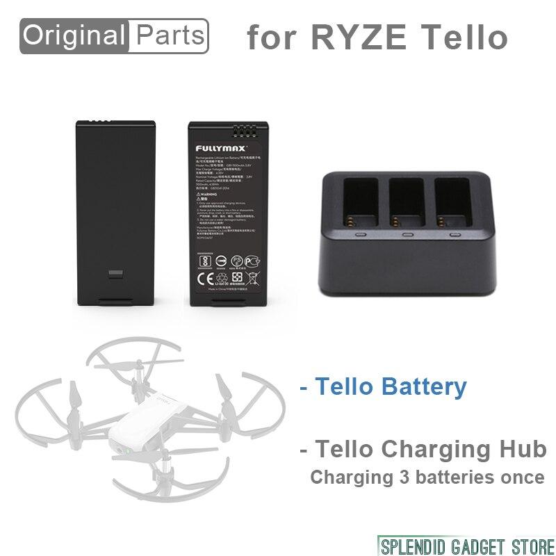 2pcs Original Flight Battery for RYZE Tello Easy to mount Drone Accessories original tello dji accessories tello battery drone tello charger batteries charging for dji hub tello flight battery accessory