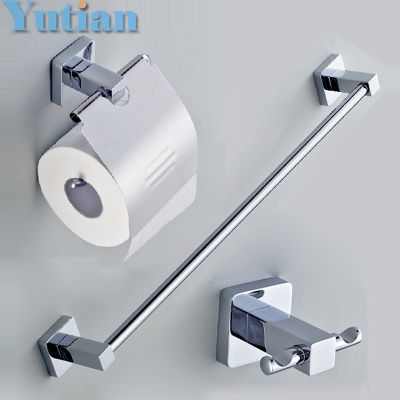 Round 304 Stainless Steel Bathroom Accessories Set Robe hook Paper Holder Towel Bar bathroom sets YT