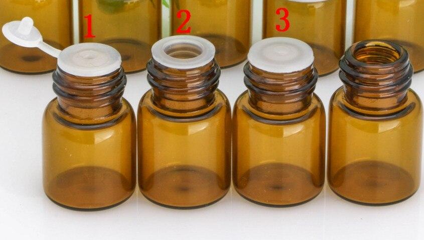 Image 5 - زجاجات الزيت العطري 1 مللي 2 مللي 3 مللي 5 مللي زجاجة عينة صغيرة من الكهرمان والزجاج الشفاف مع فتحةزجاجات التعبئةالجمال والصحة -