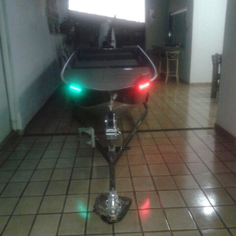 "2x Safety RED & GREEN Navegación LED para barcos Navegación con luces 12 ""Raya marina LED impermeable para rastreador de bajos"