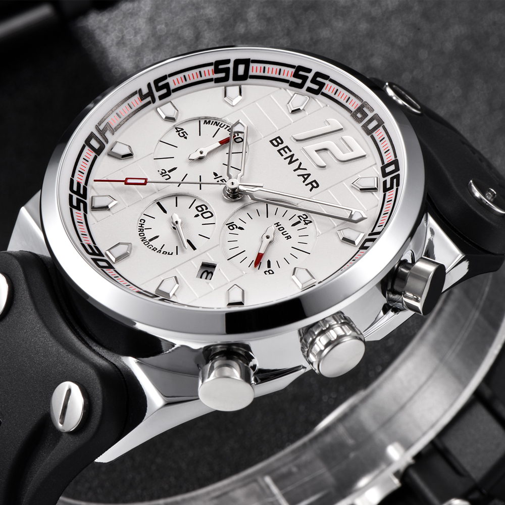 NEW BENYAR Mens Watch Chronograph
