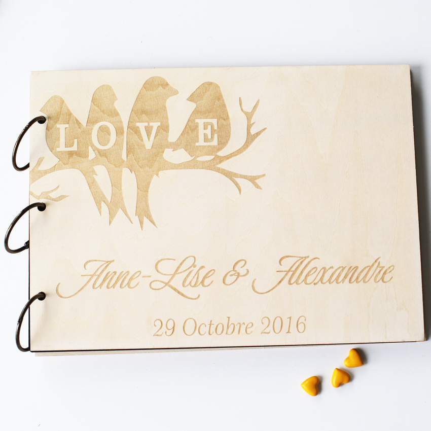 love tree bird unique personalized wedding anniversary bridal shower guest bookgift memory album wedding guestbook