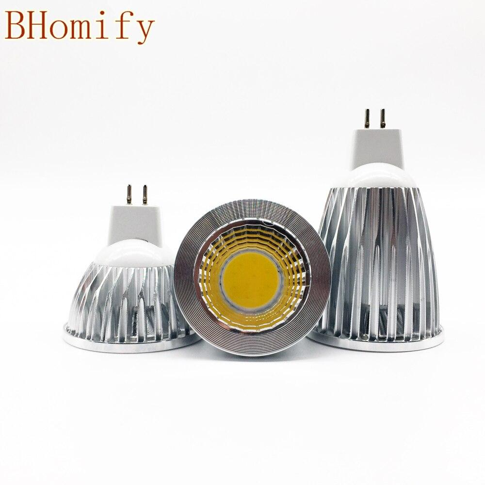 New <font><b>Led</b></font> Cob Spotligh High Power <font><b>Lampada</b></font> <font><b>Led</b></font> MR16 GU5.3 COB 6w <font><b>9w</b></font> 12w Dimmable t Warm Cool White MR16DC12V Bulb Lamp GU5.3AC220V
