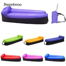 Camping Sleeping Bag Waterproof Inflatable Bag Lazy Sofa Camping Sleeping Bags Air Bed Adult Beach Lounge Chair Fast Folding high quality inflatable sofa hangout camping lazy bag waterproof air bed lounger hammock laybag square sleeping bag