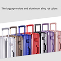 "20""22"" Aluminum frame universal wheels trolley luggagerolling luggage for male female in hotsale"