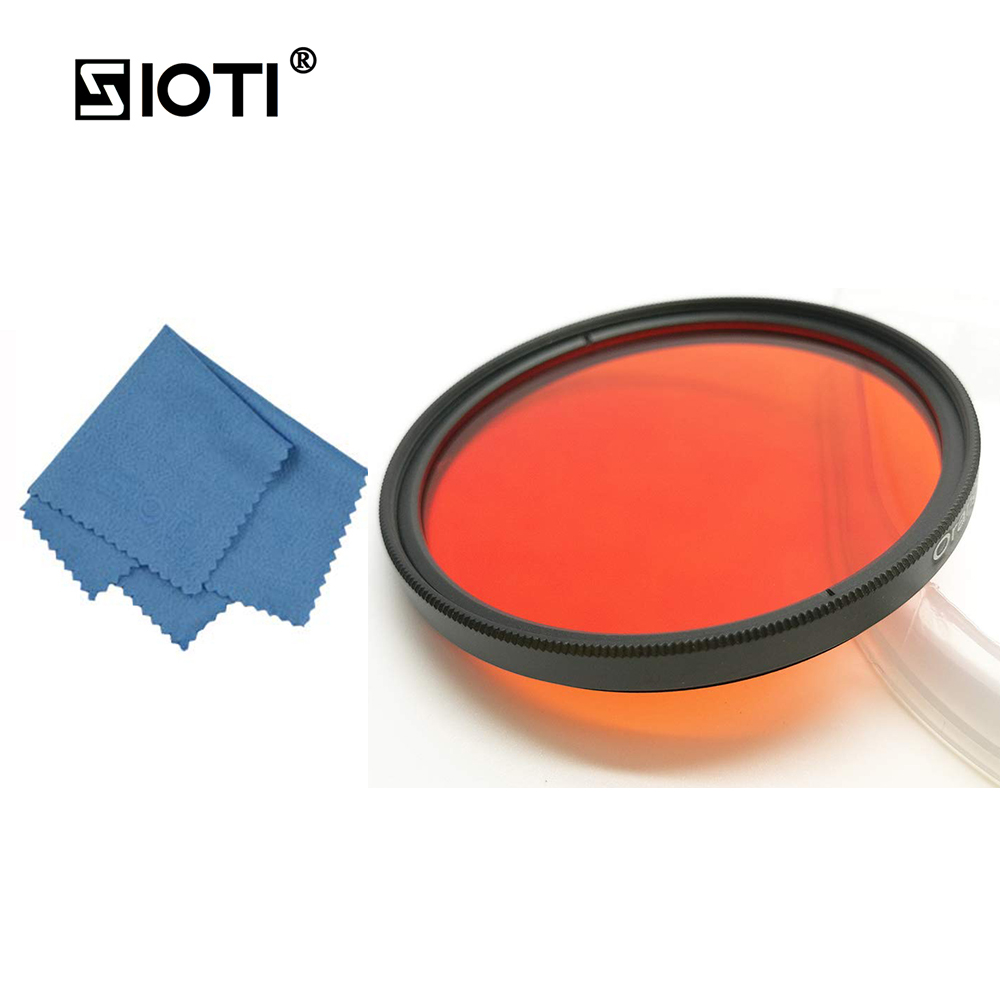 SIOTI 30 37 43 62 67 72 77mm Full Camera Color Filter with Cleaning Cloth for Canon for Nikon for Sony for DSLR Camera Lens in Camera Filters from Consumer Electronics